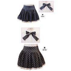 Kids Niñas Ropa Disfraz Gosloli Lolita Kawaii Japon falda lunares - Mikoku Corporation
