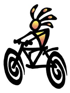 Kokopelli Riding A Bike Kokopelli Tattoo Design Cycling Tattoo, Bicycle Tattoo, Bike Tattoos, Bicycle Art, Cycling Art, Cycling Quotes, Cycling Jerseys, Kokopelli Tattoo, Logo Velo