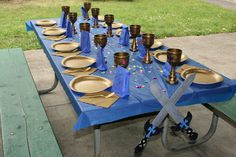 Dekorierter Rittertisch für Kindergeburtstags Party *** Decorated Table for Knights kids birthday party