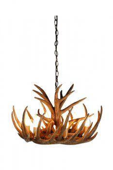 antler collection 5 light hanging natural antler chandelier painted