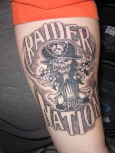 Pics For > Raiders Skull Tattoo