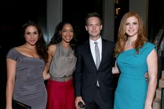 Meghan Markle Photos - (L-R) Actors Meghan Markle, Gina Torres, Patrick J. Adams and Sarah Rafferty attend the FINCA Canada Fundraiser At TIFF 2012 during the Toronto International Film Festival on September 11, 2012 in Toronto, Canada. - FINCA Canada Fundraiser At TIFF - 2012 Toronto International Film Festival