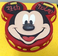 Mickey Mouse Birthday Cake - Cake by MariaStubbs Theme Mickey, Mickey And Minnie Cake, Bolo Mickey, Mickey Mouse Bday, Mickey Mouse Clubhouse Birthday Party, Mickey Cakes, Minnie Mouse Cake, Mickey Birthday, Mickey Party