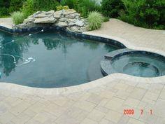 Stamped Concrete Pool Deck   Concrete Pool Renovation NJ