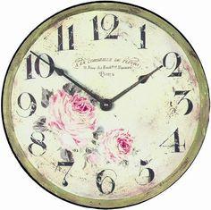 Floral Parisian wall clock - 36cm
