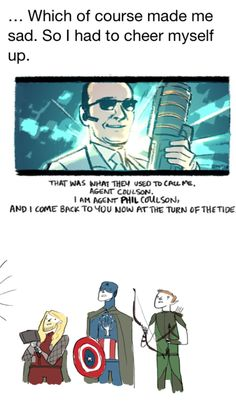 (2/2) Coulson the White. Avengers..... Lord of the Rings?? I am fangirling too hard to breathe!!!!!