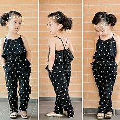 Baby Girl Clothes 2019 Summer Toddler Baby Girl Love Dot Print Romper Girls Sling Princess Jumpsuit Fake Two Pcs Sunsuit Clothes Kids Summer Dresses, Summer Fashion For Teens, Summer Fashion Outfits, Summer Outfits Women, Summer Kids, Girls Dresses, Summer Clothes, Harem Pants Outfit, Trouser Outfits