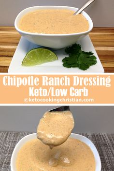 Chipotle Ranch Dressing & Dip – Keto and Low Carb Making your own salad dressing is much easier than you might think! This dressing has incredible flavor, a little spicy kick from the chipotle pepper. Mexican Salad Dressings, Salad Dressing Recipes, Homemade Healthy Salad Dressing, Homemade Salad Dressings, Burger Dressing, Chipotle Ranch Dressing, Mexican Ranch Dressing Recipe, Barbecue Ranch Dressing Recipe, Creamy Chipotle Dressing Recipe