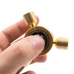 Tri-Spinner Fidgets Bearing Brass Fidget Spinner