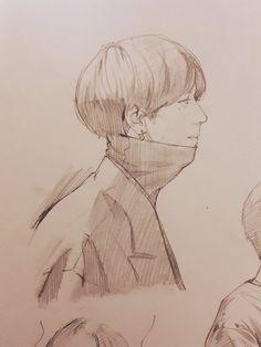 Fan Drawing, Drawing Base, Drawing Reference, Got7 Fanart, Kpop Fanart, K Pop, Interior Design Sketches, Kpop Drawings, Korean Art