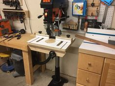 Drill press table and fence - by txn @ LumberJocks.com ~ woodworking community