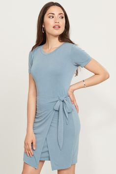 Knot your girl. Knotted T-Shirt Dress