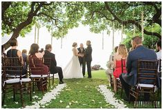This is the dreamiest ceremony decor! Hanging Tree Decor with petal aisle at a Hawaii Wedding -- Natural Wedding Inspriation :: Backyard Wedding Inspriation :: Design by Dellables :: Coordination by Simple Maui Wedding :: Karma Hill Photography