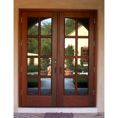 All About Interior French Doors (+ French Door Picture Ideas ) Wood French Doors Exterior, Exterior Patio Doors, Wood Front Doors, Wooden Doors, Porch Doors, Wooden Window Design, House Window Design, Door Design, House Design