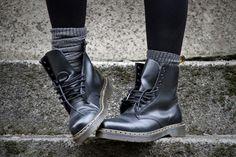Basics: black Docs, leggins, socks. Via vanille - dream
