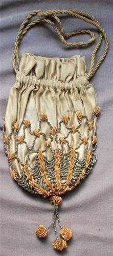 Victorian 19th Century Melon Seed Reticule Purse