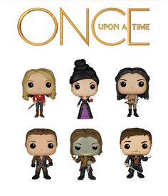 Funko Pop! Disney Once Upon A Time Complete 6 Vinyl Figue set PRE-ORDER