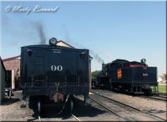 Great Western Railway 2-10-0 #90: A view of #90's tender as it simmers outside the shops in Strasburg on June 8, 2012