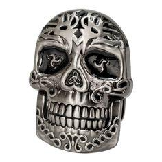 Celtic Skull Intricate Belt Buckle Stainless Steel