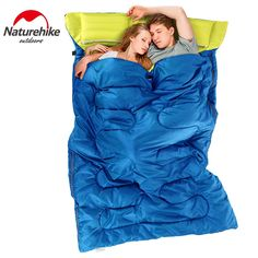 62.90$  Buy now - http://aliqyt.worldwells.pw/go.php?t=32743217328 - Naturehike (185cm + 30cm) X 145cm Outdoor envelope cotton Adult outdoor heat preservation 3 Season camping double sleeping bag
