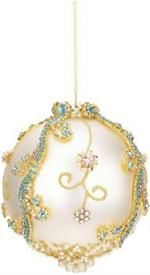 Mark Roberts Christmas Ornaments | Jeweled Banded Ornament | King's Jewel Collection | King's Jewel Ornament