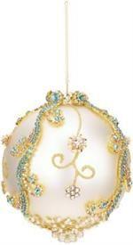 Mark Roberts Christmas Ornaments   Jeweled Banded Ornament   King's Jewel Collection   King's Jewel Ornament