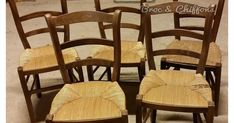 comment moderniser des chaises en paille, chaise en paille relookée Wishbone Chair, Dining Chairs, Furniture, Decoration, Health, Home Decor, Life, Recipes, Painted Wood Chairs