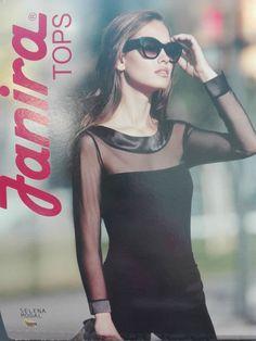 Janira maglia donna maniche lunghe Modal E Tulle nero selena shop 2017