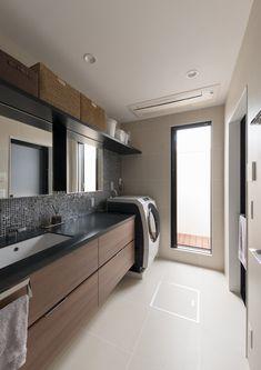 WOODボックスハウス | 注文住宅なら建築設計事務所 フリーダムアーキテクツデザイン Bathroom Toilets, Washroom, Japanese Modern House, Natural Interior, Future House, Laundry Room, New Homes, House Design, Interior Design