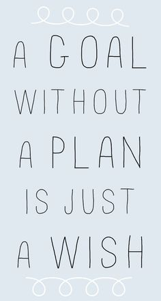 A goal without a plan is just a wish. thedailyquotes.com