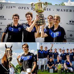 #Paris - Open de Paris Maserati le 30 juin 2013 BRISTON a remis le prix du Best playing Poney du tournoi à la jument Black de Robert Strom de l'équipe Sainte Mesme