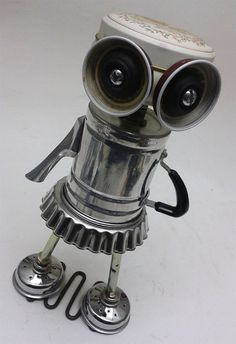 Little Lucy Bot Assemblage Steampunk Robot Sculpture by DonLJones, 55.00