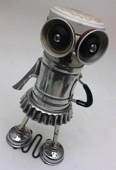 Little Lucy Bot Assemblage Steampunk Robot Sculpture by DonLJones, 55.00
