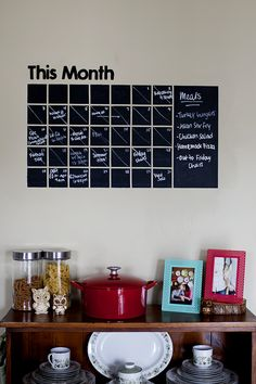 Chalkboard paint calander for anything... I think for my room.