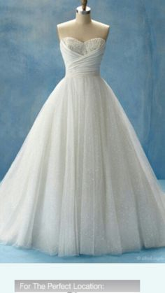 This Cinderella disney wedding dress was the first wedding dress I decided I wanted <3