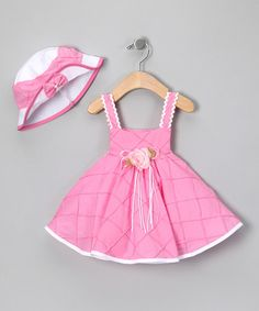 Take a look at this Pink Sundress Set - Infant by Shanil on #zulily today!