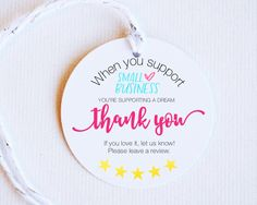 Business Thank You Notes, Logo Online Shop, Thank You Card Design, Thanks Card, Handmade Gift Tags, Business Stickers, Diy Resin Crafts, Card Tags, Bakery Packaging