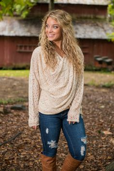 Speckled Fun Sweater, Ivory