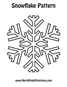 Printable Snowflake Template | For more Christmas Patterns, visit NorthPoleChristmas.com