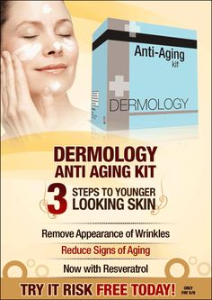 Dont put up with those unsightly fine lines and wrinkles any more. You dont have to! When you order Dermology Complete Anti-Aging System today, you can begin seeing a difference in just a few weeks.  No longer will you have to worry about the signs of aging or how those wrinkles are starting to make you look older. With Dermology Complete Anti-Aging System, youll have confidence knowing people are looking at a face you thought was gone for good, as the fine lines and wrinkles have begun..