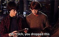 """The outing of Argus Filch as a squib. 