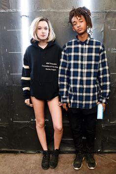 Sarah Snyder et Jaden Smith pendant la soirée Calvin Klein lors du premier week-end du Festival de Coachella