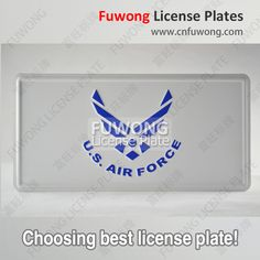 American gift license plate for car