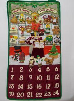 Fabric Advent Calendar Pockets Of Learning Sweet Toy Shoppe Christmas Decor #PocketsofLearning #Christmas