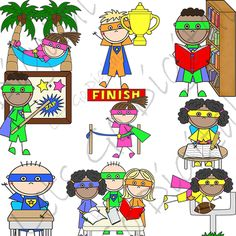 FREE Super Hero Habits Clip Art from Lets go Digital on TeachersNotebook.com -  (10 pages)  - Super Hero Habits clip arts includes cute Super Hero themed graphics. Great for craft projects, teaching projects, teaching lesson plans, teacher papers, student handouts, scrap bookin, digital scrap.