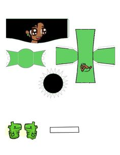 Castle Crashers Green Princess paper craft