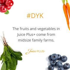 Juice Plus+ provides whole food based nutrition to promote a balanced diet to ensure you get enough servings of fruits, vegetables & grains. Learn more now!