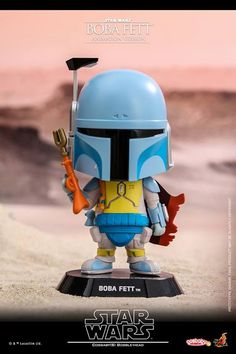 Star Wars Cosbabies are always beloved by fans around the world! Today, Hot Toys has specifically chosen the fan-favorite bounty hunter and dedicating the new Cosbaby bobble-head based on this his early appearance on screen.  This Boba Fett Cosbaby features his classic look from the Star Wars Holiday Special animation equipped with blue and yellow Mandolorian armor, a blaster rifle and a jetpack on his back! This little Boba Fett stands about 13cm tall with figure base and comes with…