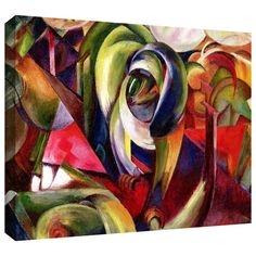 'Mandrill' by Franz Marc Gallery Wrapped on Canvas