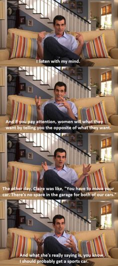 Phil on modern family:) always makes me laugh Modern Family Funny, Modern Family Quotes, Tv Funny, Hilarious, Funny Stuff, Funny Memes, Tv Show Quotes, Movie Quotes, Family Quotes Tumblr
